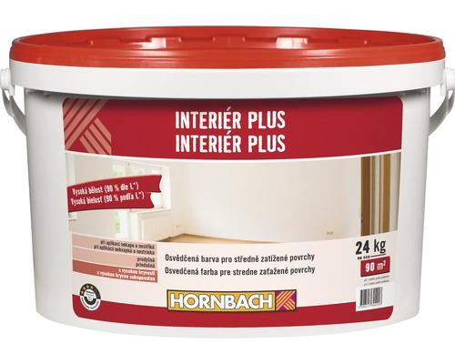 Biela farba na stenu Hornbach Interiér plus 24 kg