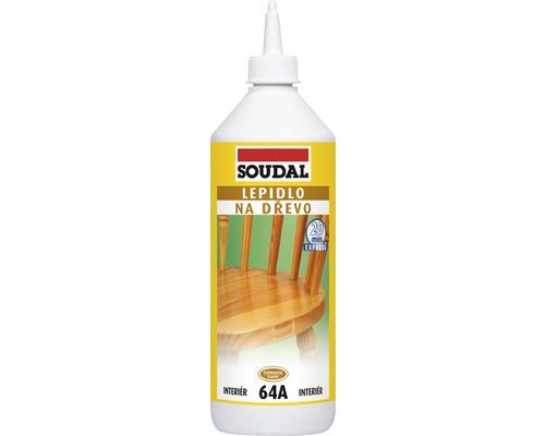 Lepidlo na drevo Soudal 64A rýchloschnúce 750 g