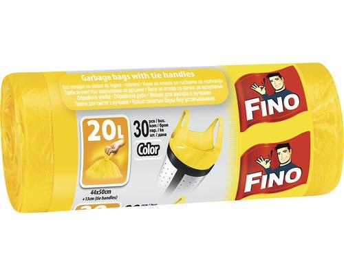 Vrecia na odpadky FINO žlté 30x20 l