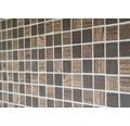 Sklenená mozaika CW 410 TMAVO HNEDÁ 30x30 cm