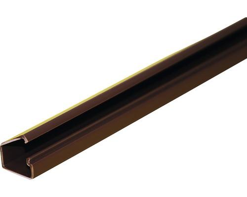Lišta na káble tmavé drevo LV 18x18 mm, 2m