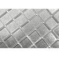 Sklenená mozaika CM 4SB6 strieborná 30,5x32,5 cm