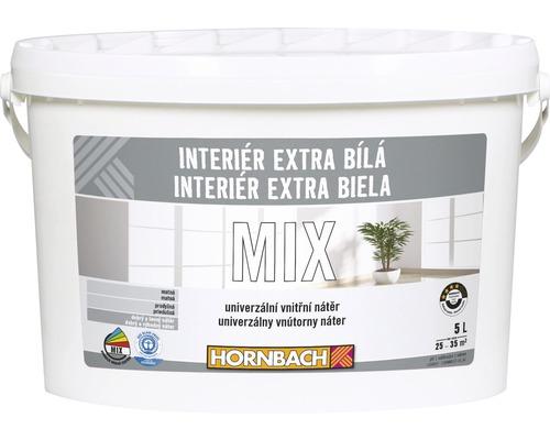 Interiérová farba Hornbach Interiér Extra Biela mix báza C 5 l