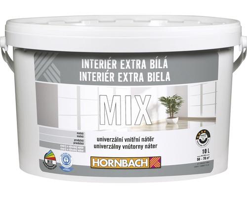 Interiérová farba Hornbach Interiér Extra Biela mix báza C 10 l
