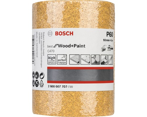 Brúsny papier Bosch 93x5000 mm G60, rolka