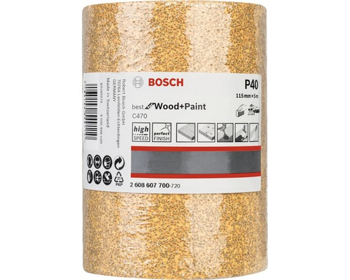 Brúsny papier Bosch 115x5000 mm G40, rolka