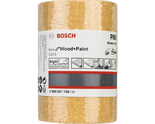 Brúsny papier Bosch 93x5000 mm G80, rolka