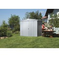 Plechový záhradný domček Biohort Europa 3 veľ. 224 x 152 cm strieborný metalický
