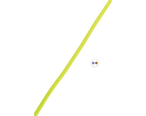 Textilný kábel 2x0,75 žltý, metrážový sortiment