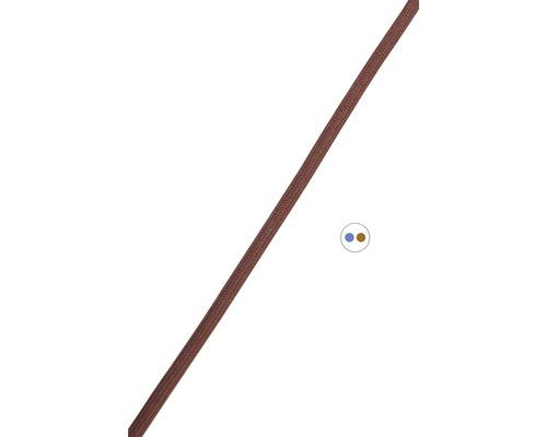 Textilný kábel 2x0,75 hnedý, metrážový sortiment