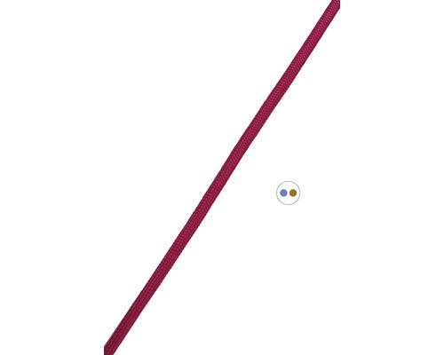 Textilný kábel 2x0,75 bordový, metrážový sortiment