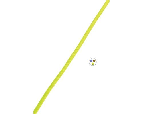 Textilný kábel 3x0,75 žltý, metrážový sortiment
