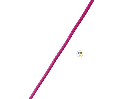 Textilný kabel 3x0,75 rúžový, metrážový sortiment