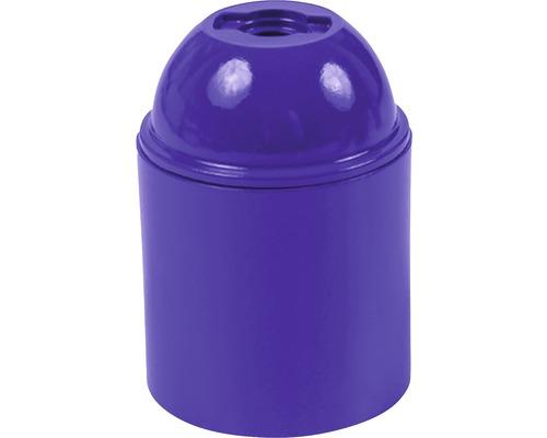 Objímka plastová E27, fialová