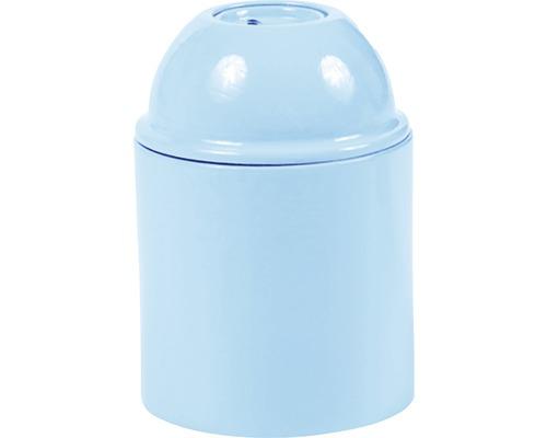Objímka plastová E27, modrá