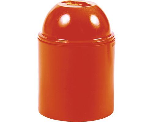 Objímka plastová E27, oranžová