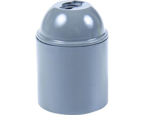 Objímka plastová E27, šedá