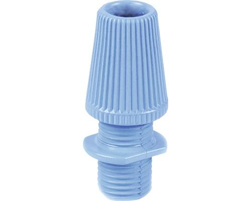 Svorka kábla s priechodkou, modrá plastová
