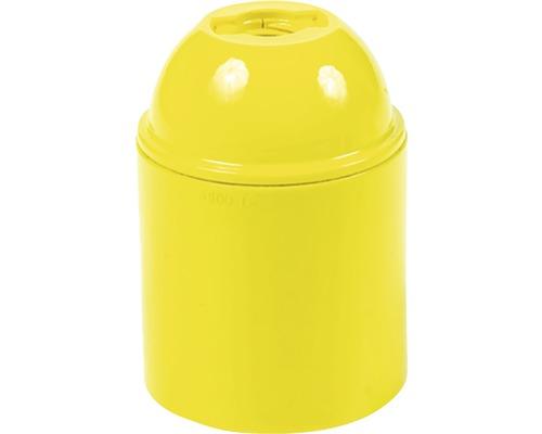 Objímka plastová E27, žltá