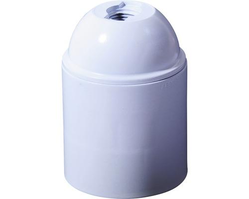 Objímka plastová biela E27