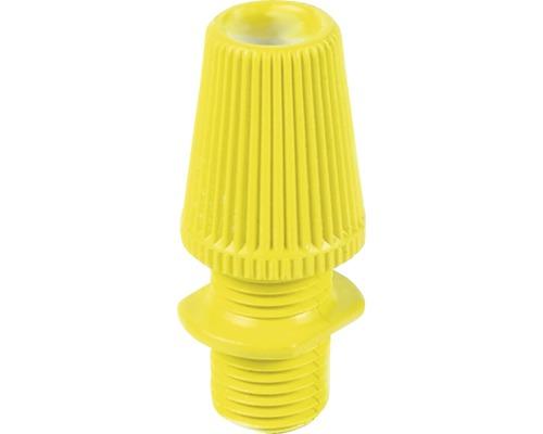 Svorka kábla s priechodkou, žltá plastová