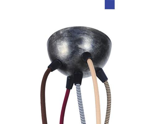 Baldachýn kovový 100mm, 5 otvorov, modrý