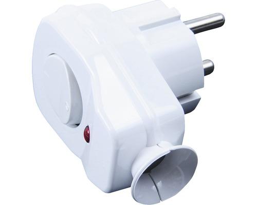 Vidlica s vypínačom biela