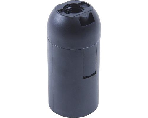 Objímka plastová čierna E14