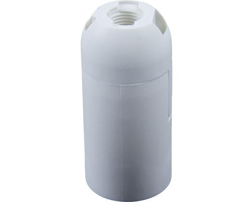 Objímka plastová hladká biela E14