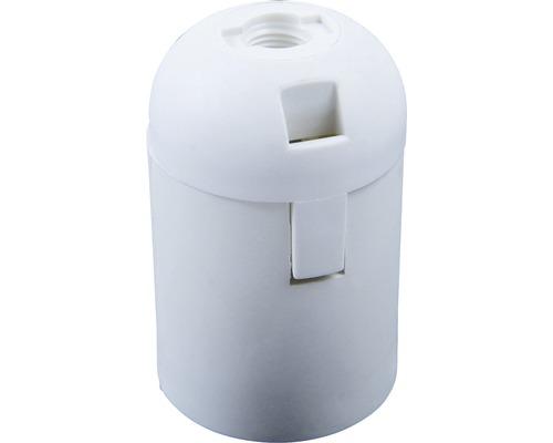 Objímka plastová hladká biela E27