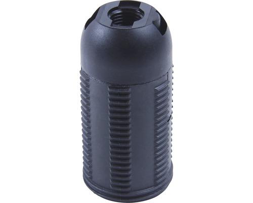 Objímka plastová so závitom čierna E14