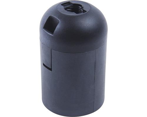 Objímka plastová hladká čierna E27