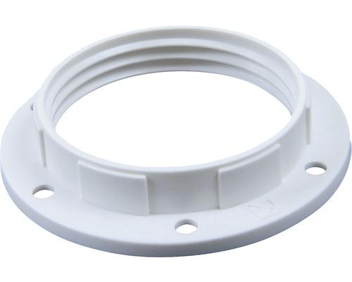 Krúžok objímky plastový biely E27