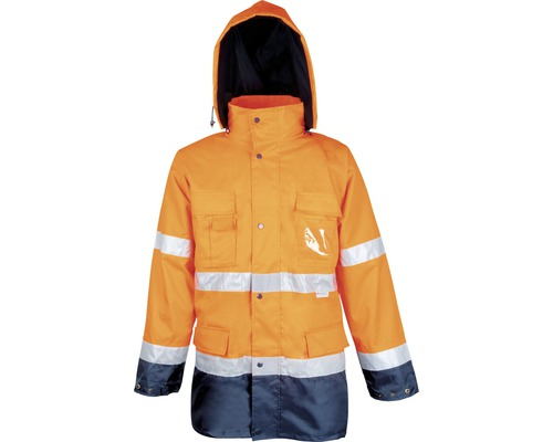 Reflexná bunda MAXWELL oranžová L