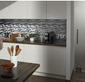 Hliníková mozaika XAM A891 strieborná/čierna mix 29,8 x 33,8 cm