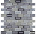 Sklenená mozaika ICE BR29 30x30 cm sivá