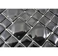 Sklenená mozaika WAVY 05 30x30 cm čierna