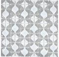 Sklenená mozaika WAVY 15 30x30 cm sivá