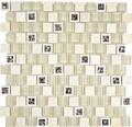 Sklenená mozaika XCP BM15 30x30 cm béžová