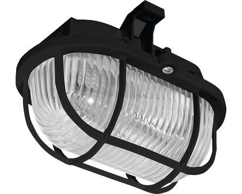 Pracovné svetlo OVAL 60, čierna, plast