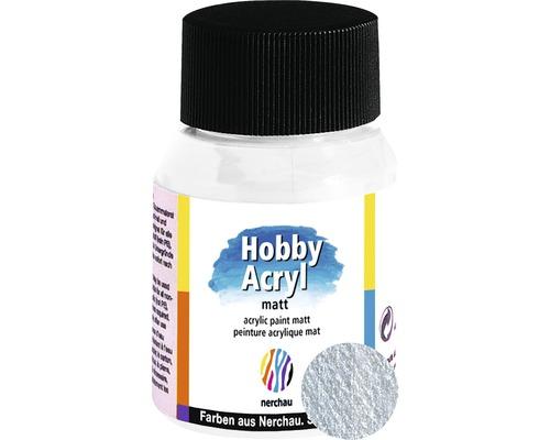 Akrylová farba Hobby Acryl matt strieborná 59 ml