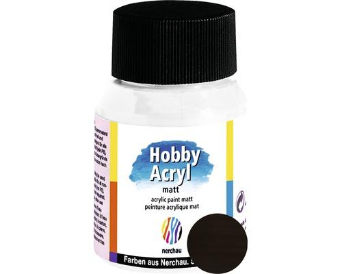 Akrylová farba Hobby Acryl matt tmavohnedá 59 ml