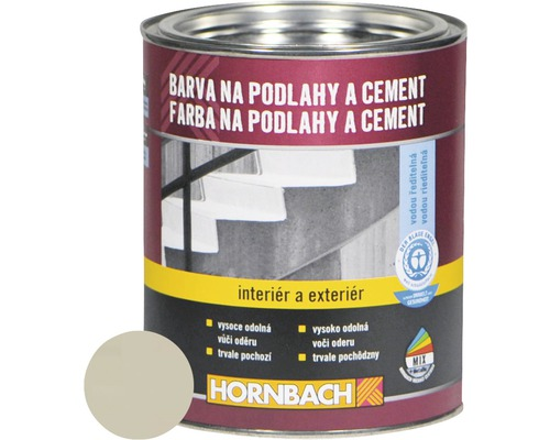Farba na betón Hornbach svetlosivá, hodvábne lesklá 750 ml
