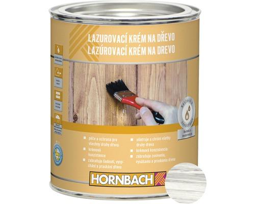 Lazúrovací krém na drevo 750 ml, biely - Dopredaj