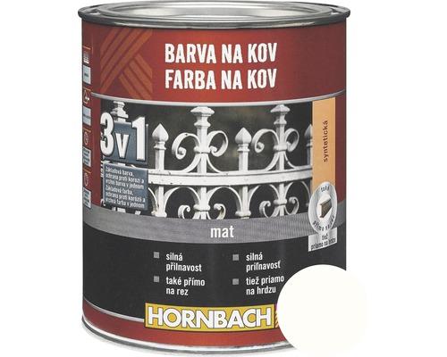 Farba na kov 3v1 Hornbach biela, lesklá 750 ml