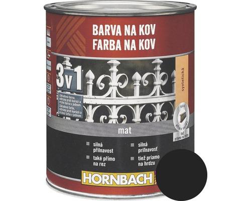 Farba na kov 3v1 Hornbach čierna, lesklá 250 ml