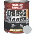 Farba na kov 3v1 Hornbach strieborná, lesklá 750 ml