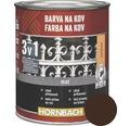 Farba na kov 3v1 Hornbach hnedá, matná 250 ml