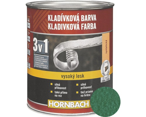 Kladivková farba na kov 3v1 tmavo zelená lesklá 750 ml
