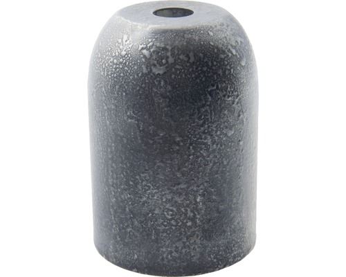 Kryt objímky kovový tubus patina strieborná